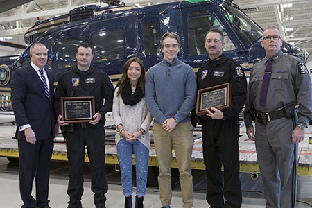 State Police Aviators honored with lifesaving award