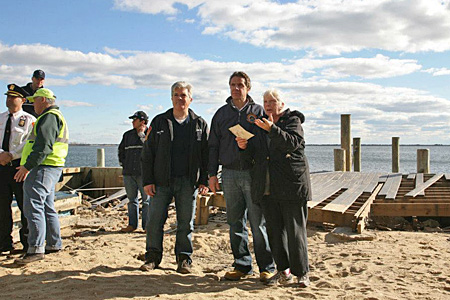 photo of Governor Cuomo on beach after Sandy